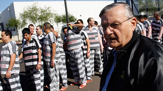 "Sheriff Arpaio to confront ""Chalk the Police""  Protestor"