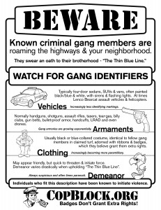 beware known gang members flyer copblock 231x300 NEW Print Ready Flyers
