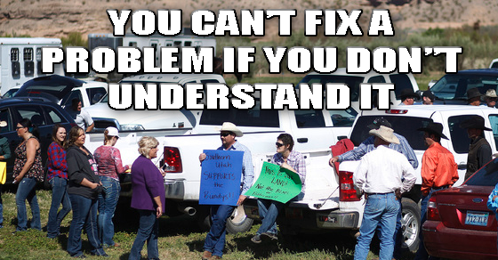 Protesters at the Cliven Bundy Ranch