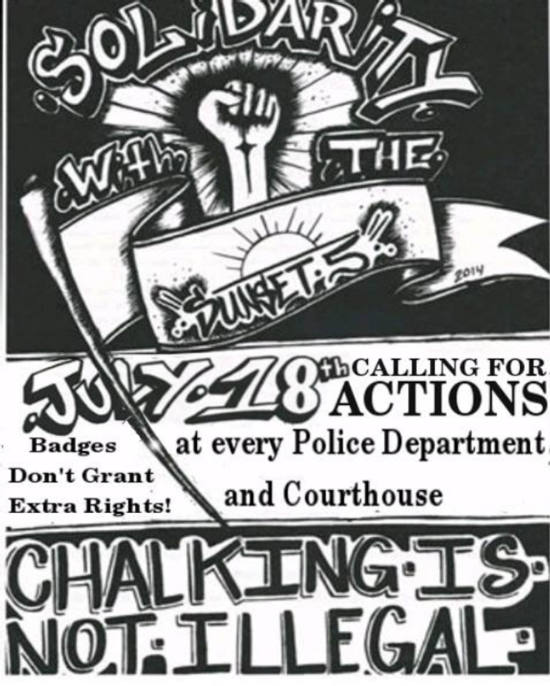 The 2nd annual chalk the police state day july 18th for Same day t shirt printing las vegas