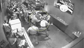 LVMPD beating man in downtown Las Vegas bar