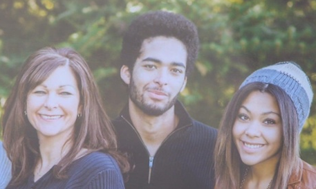 Darrien Hunt and family, before men wearing badges killed him.