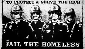 police harassing homeless