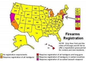 Gun Registration Map