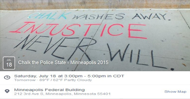 Chalk Police State Minneapolis