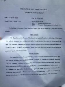 Ray Tensing Sam Dubose Indictment
