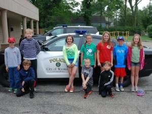 Wyoming junior police camp attendees