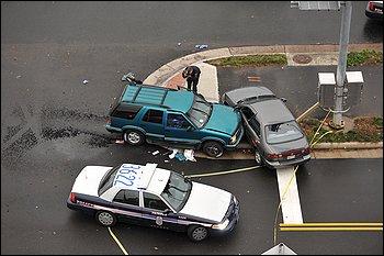 David Masters crash scene