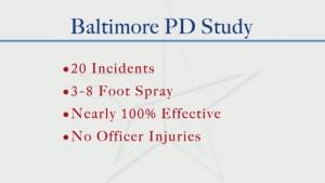 Baltimore PD Study on Mace vs Dogs