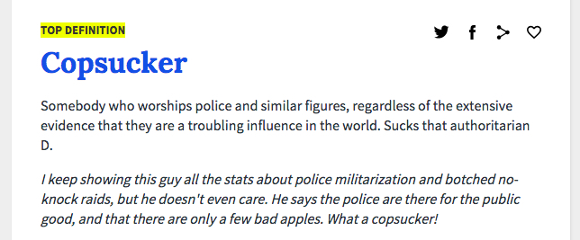 Definition of a Copsucker