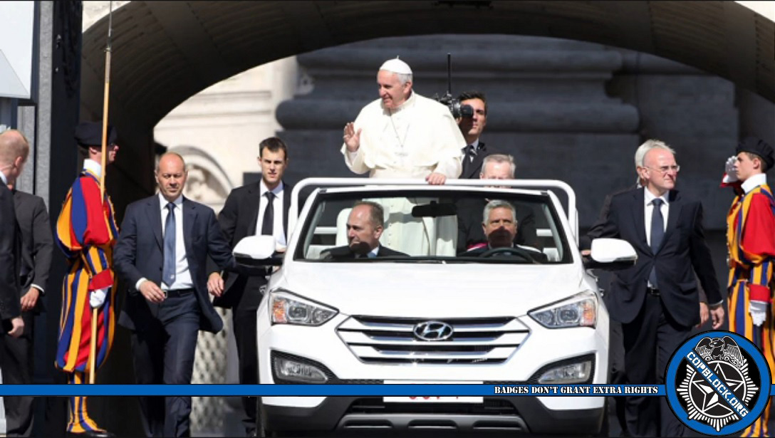 Pope Francis visits America and gets a taste of The Police State fear machine