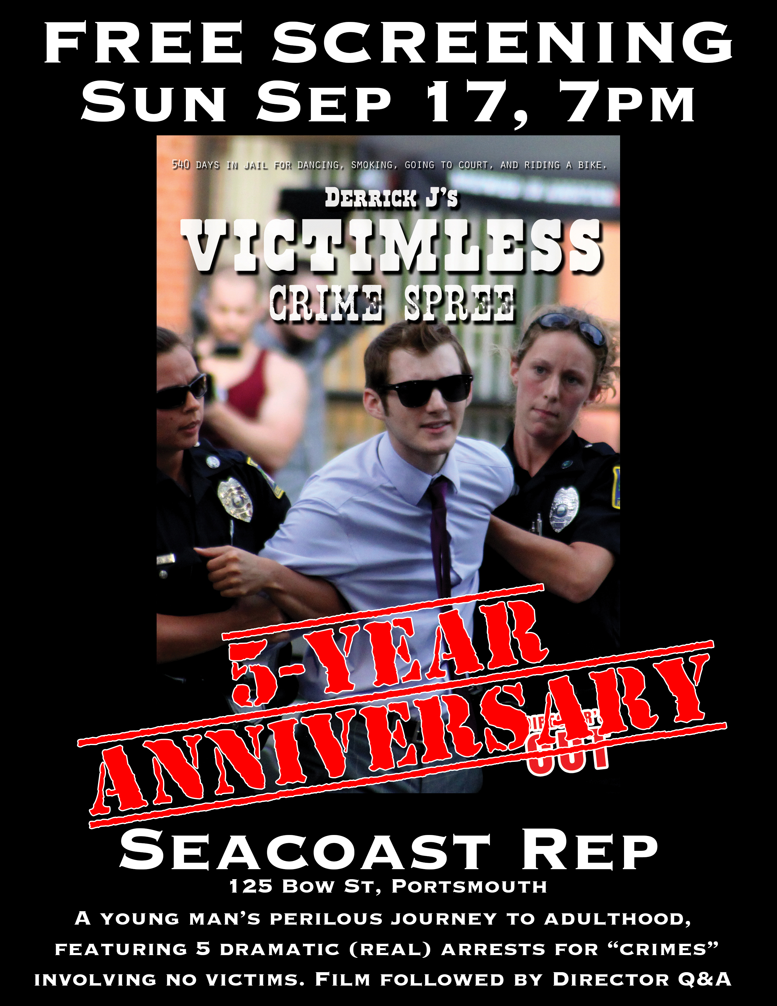Victimless Crime Spree Screening Poster