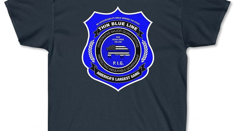 Thin Blue Line T-Shirt Looks Pro-Police From a Distance, But Up Close...