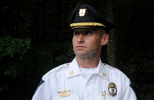[NH's top cop has resigned over physical abuse of son – Photo from Valley News' Jennifer Hauck]